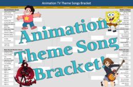 Animation TV Theme Song Bracket